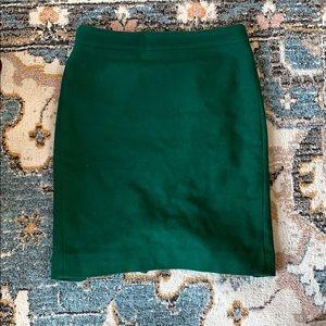 JCrew green skirt size 0. Gently worn!